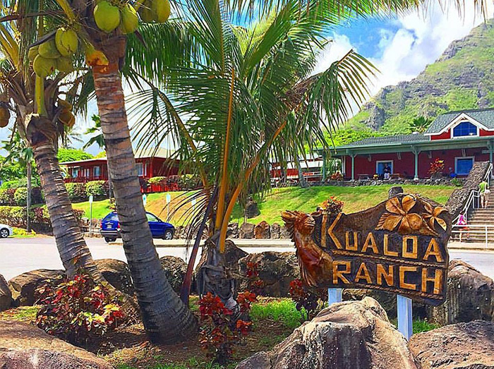 Kualoa Ranch's Parking Lot