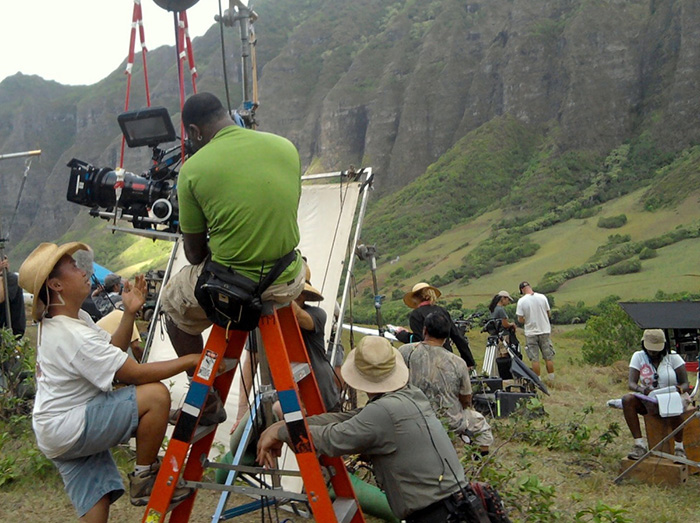 What it looks like when Hollywood is filming