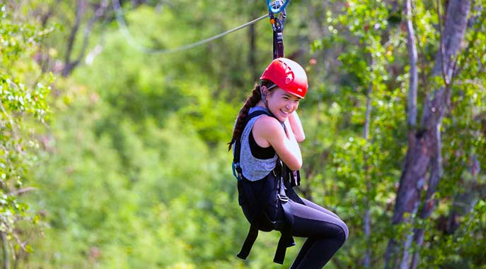 6 fun filled Ziplines