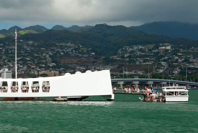 The Arizona Memorial Shuttle to the Memorial