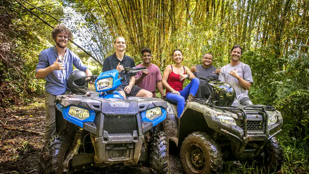 Zip and ATV with a group of friends.