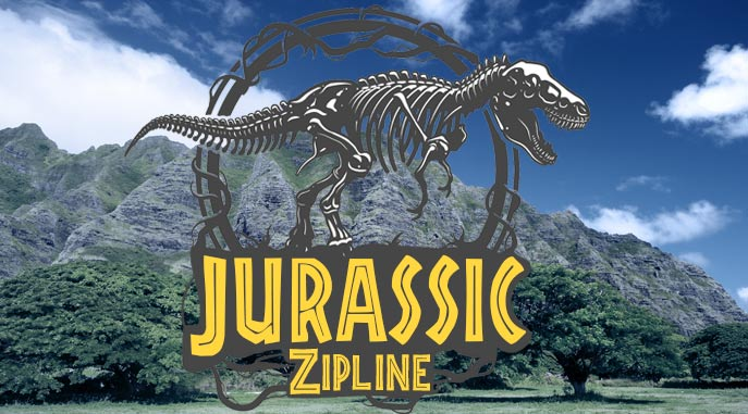 Jurassic Zipline from the Movies