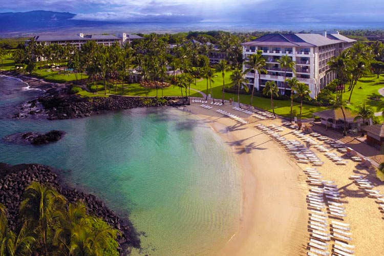 Located at the Fairmont Orchid Hotel