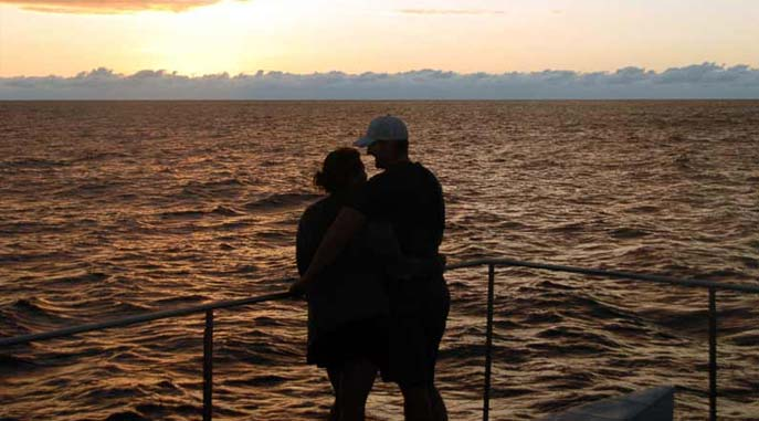 Sunset Couple on Cruise