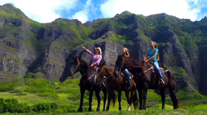 Horse and Zipline combo at Kualoa Ranch