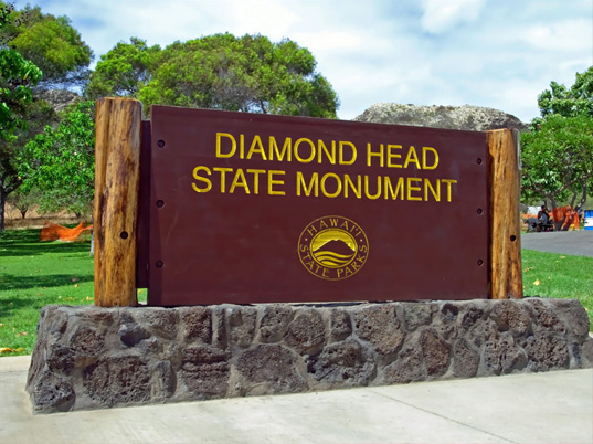 Diamond Head Entrance Sign