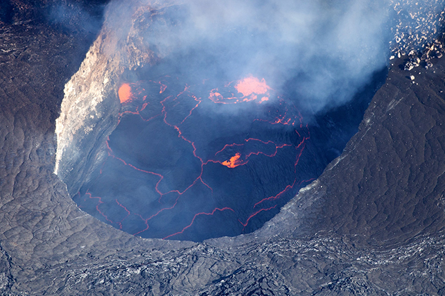 Image is for illustrative purposes only. Lava activity is unpredictable and never guaranteed.