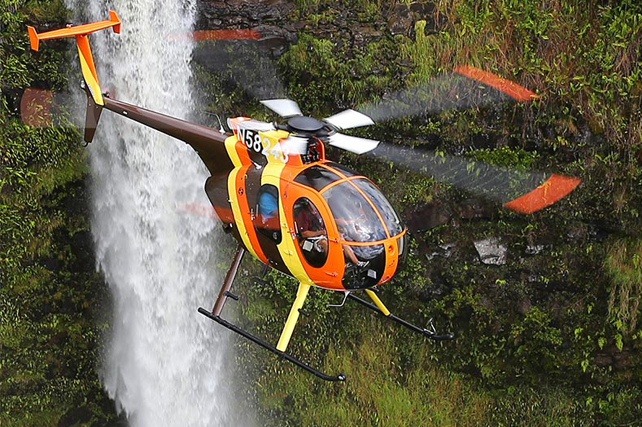 Flyby Tropical Waterfalls