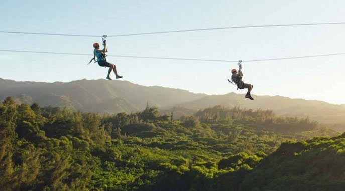 Zipline down the Oahu Mountains