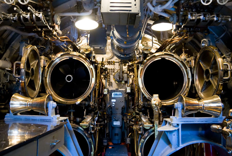 Torpedo Tubes on the USS Bowfin Submarine