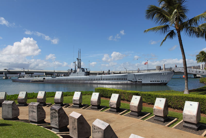 View of the Bowfin Submarine from the Pearl Harbor Visitors Center