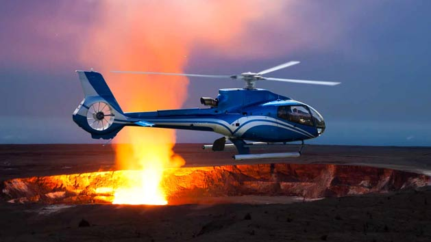 Helicopter tour of the Big Island