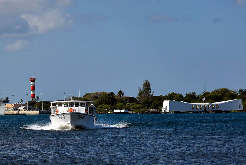 Ride on a Navy boat to the USS Arizona Memorial