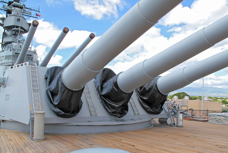 Deck guns of the USS Battleship Missouri