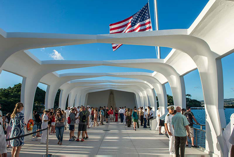 Pay your respects above the USS Arizona Battleship