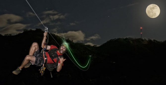 Exciting Night Time Zipline