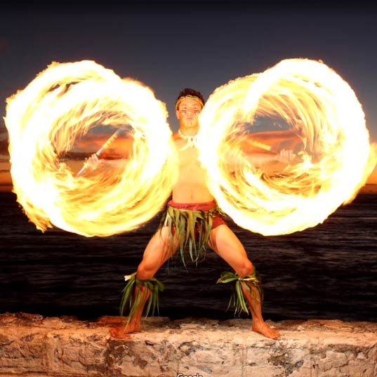 Luau Fire Knife Dancer