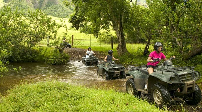 1 hour of ATVs around Kualoa Ranch