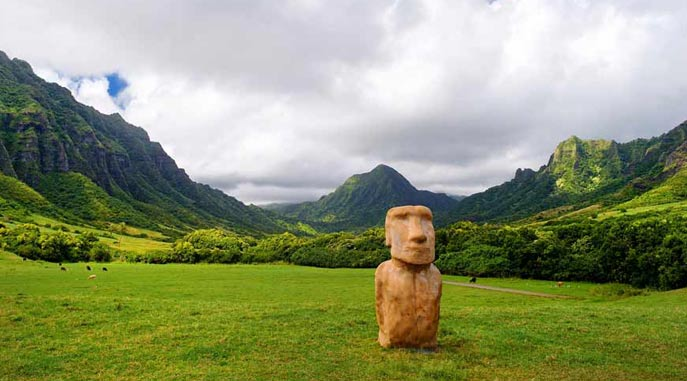Movie relics at Kualoa Ranch
