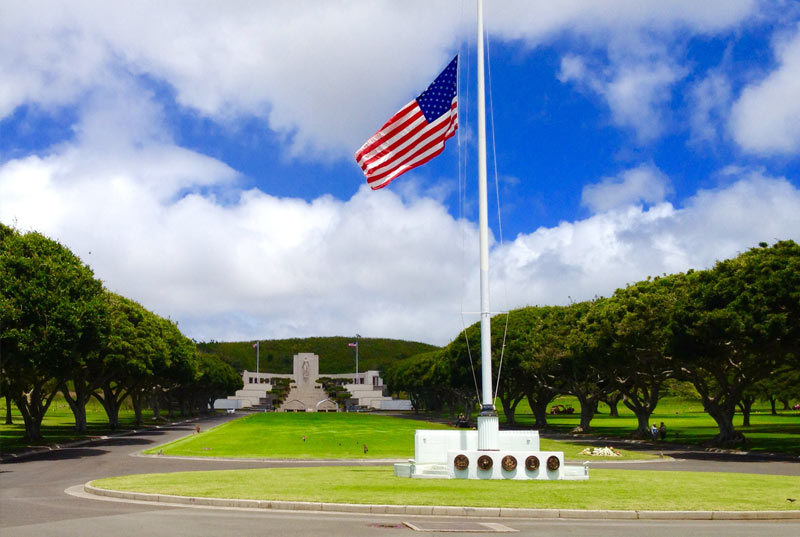Stop at the Punchbowl Cemetery of the Pacific
