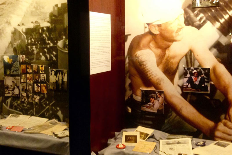 View historical displays at the Pearl Harbor Visitors Center