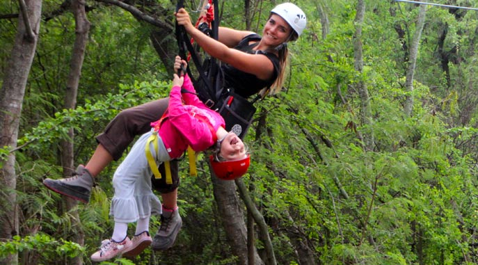 Tandem Zipline for Kids