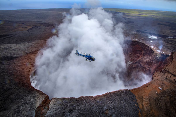 Helicopter Ride over the Volcano