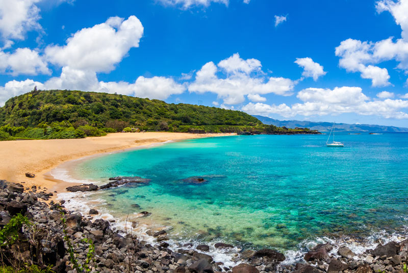 The beautiful Waimea Bay