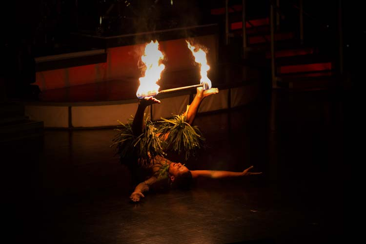 Traditional Fire-Knife Dancers